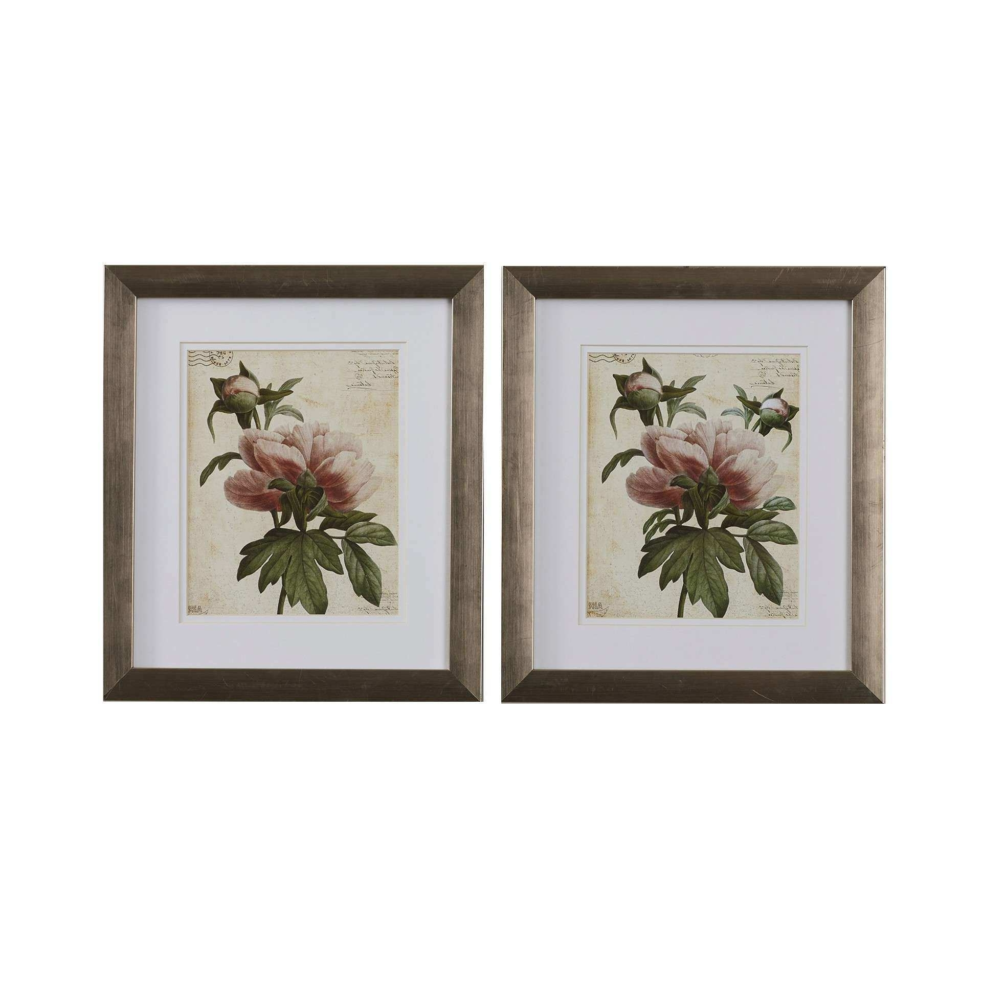 Current 2 Piece Metal Wall Art Best Of Lark Manor Vaillancourt 2 Piece With Regard To Set Of 2 Framed Wall Art (View 2 of 15)