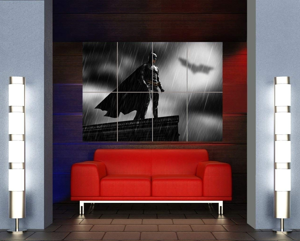 Current Amazon: Batman Superhero Art Bat Signal Giant Wall Art Print With Regard To Huge Wall Art (View 6 of 15)