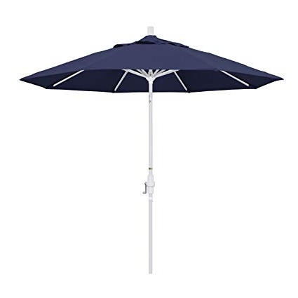 Current Amazon : California Umbrella 9' Round Aluminum Market Umbrella In Patio Umbrellas With White Pole (View 1 of 15)