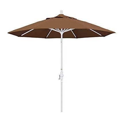 Current Amazon : California Umbrella 9' Round Aluminum Market Umbrella With Regard To Sunbrella Teak Umbrellas (View 8 of 15)