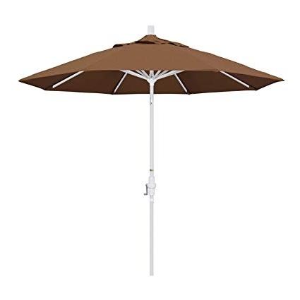 Current Amazon : California Umbrella 9' Round Aluminum Market Umbrella With Regard To Sunbrella Teak Umbrellas (View 8 of 15)