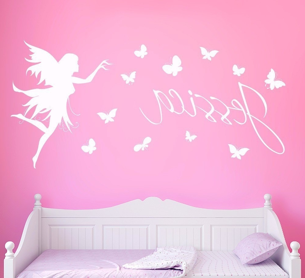 Current Butterflies Personalised Name Wall Sticker Kids Home Decor Butterfly In Name Wall Art (View 4 of 15)