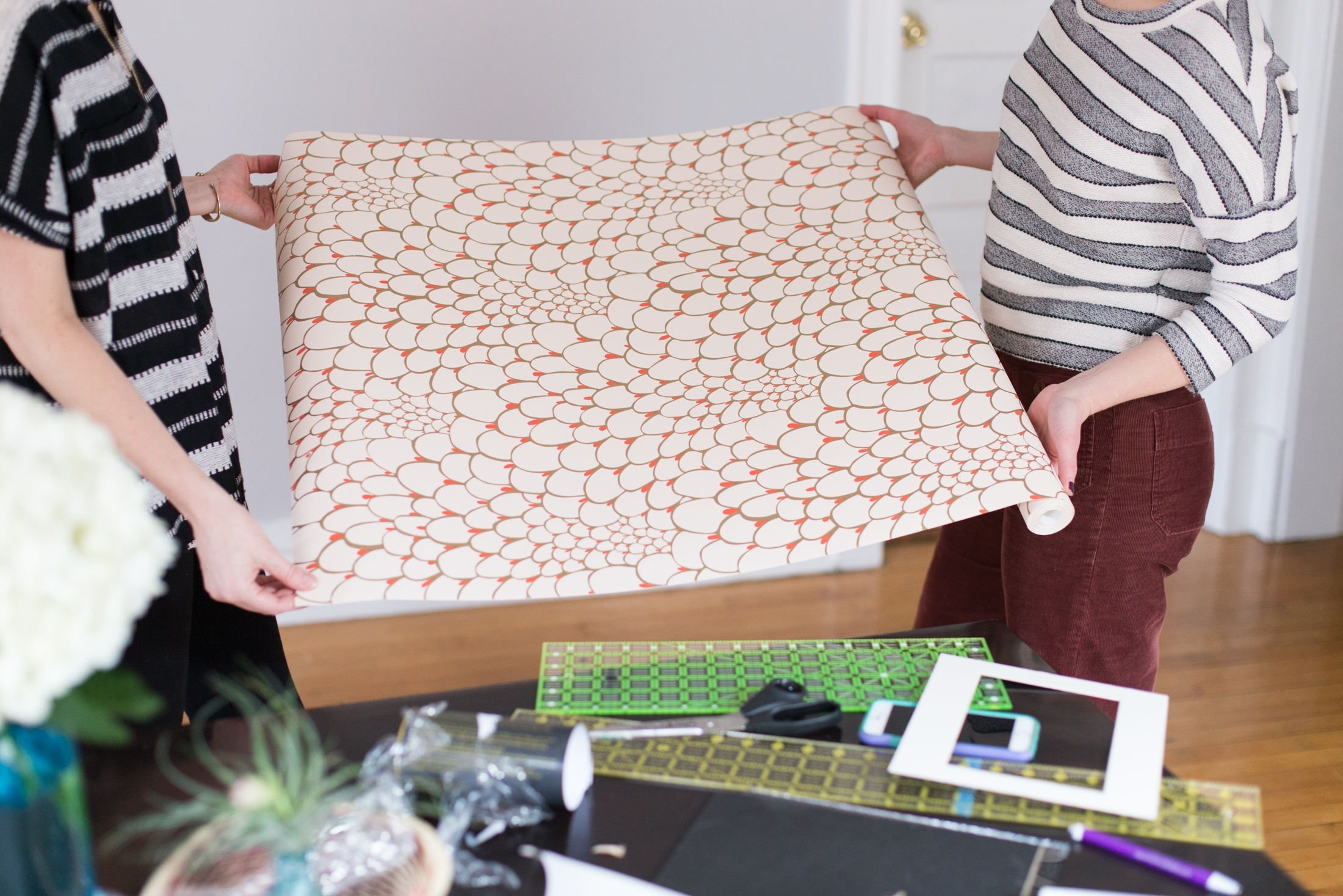 Current Diy Wall Art Projects Regarding Diy Wall Art Projects With Wallpaper (View 5 of 15)