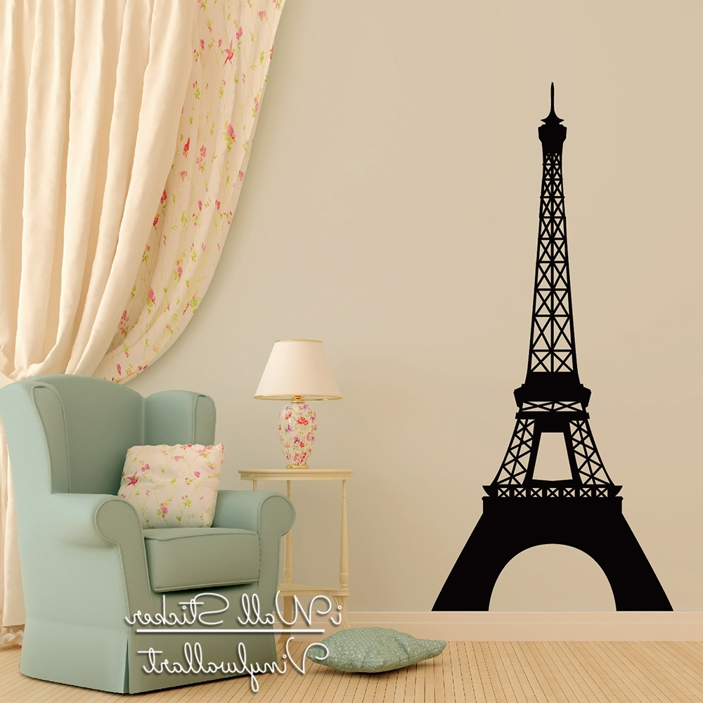 Current Eiffel Tower Wall Art In Pairs Tower Wall Sticker Modern Eiffel Tower Wall Decals Modern (View 2 of 15)