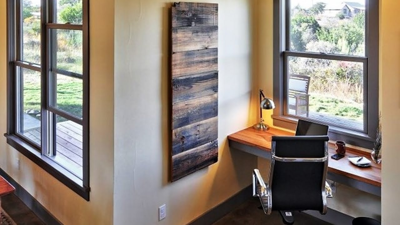 Current Fabulous Diy Wooden Pallet Wall Art Ideas – Youtube Throughout Pallet Wall Art (View 10 of 15)