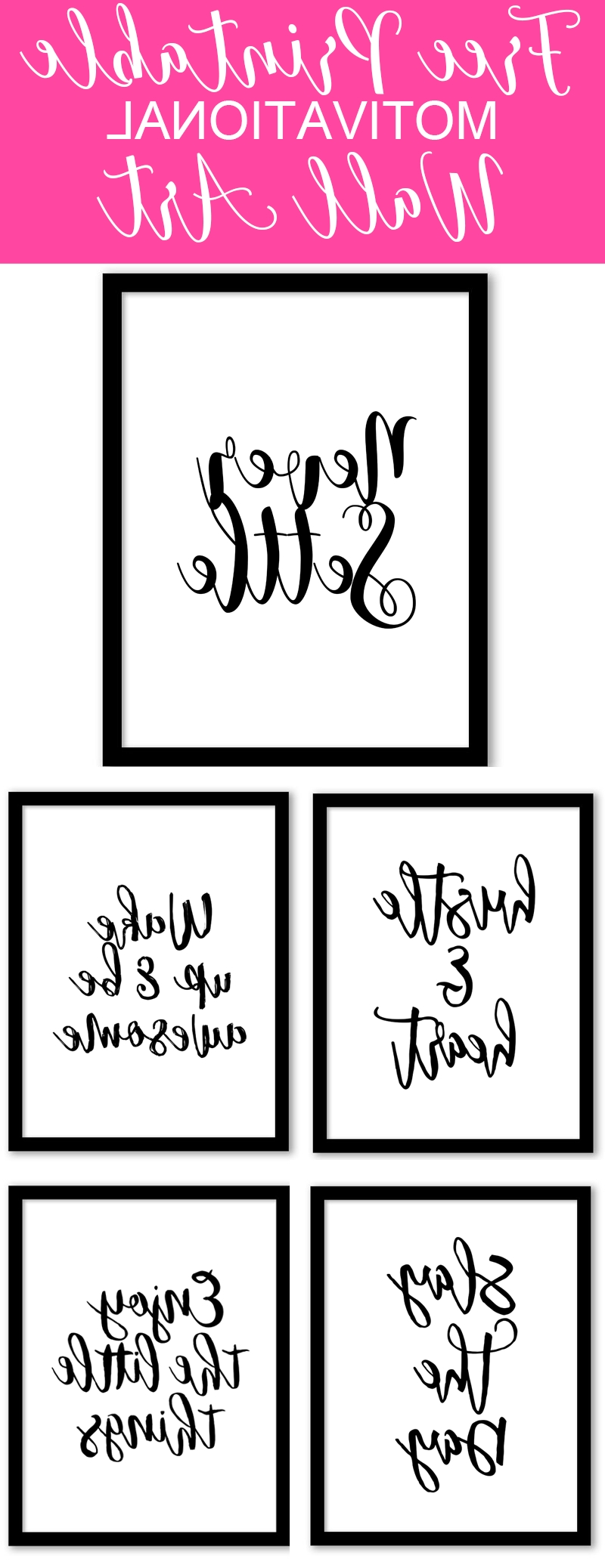 Current Free Printable Wall Art Decors Intended For Free Printable Wall Art From @chicfetti – Perfect For Your Office Of (View 15 of 15)