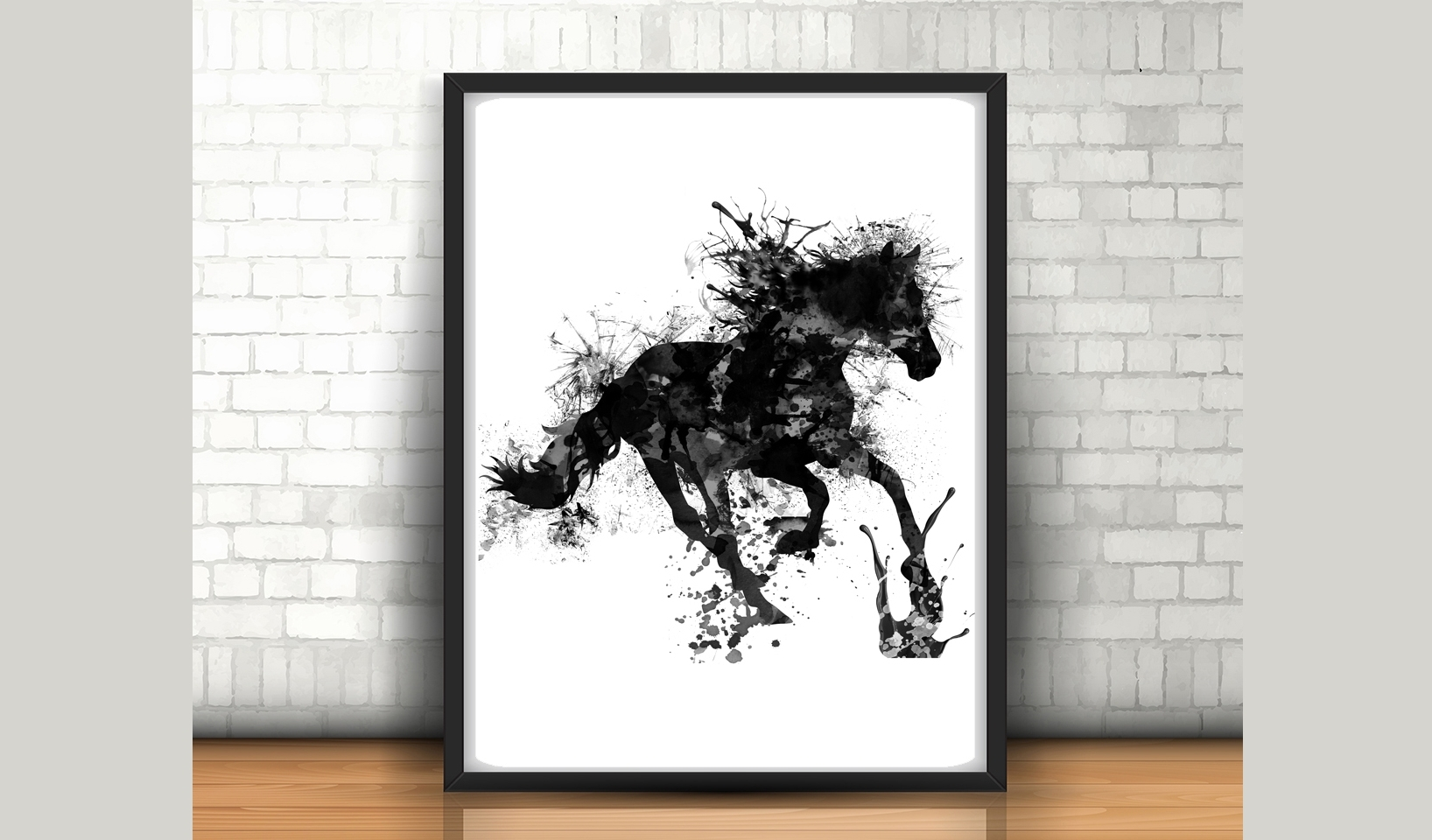 Current Horse Wall Art – Size 24X36 Inches – H (View 8 of 15)