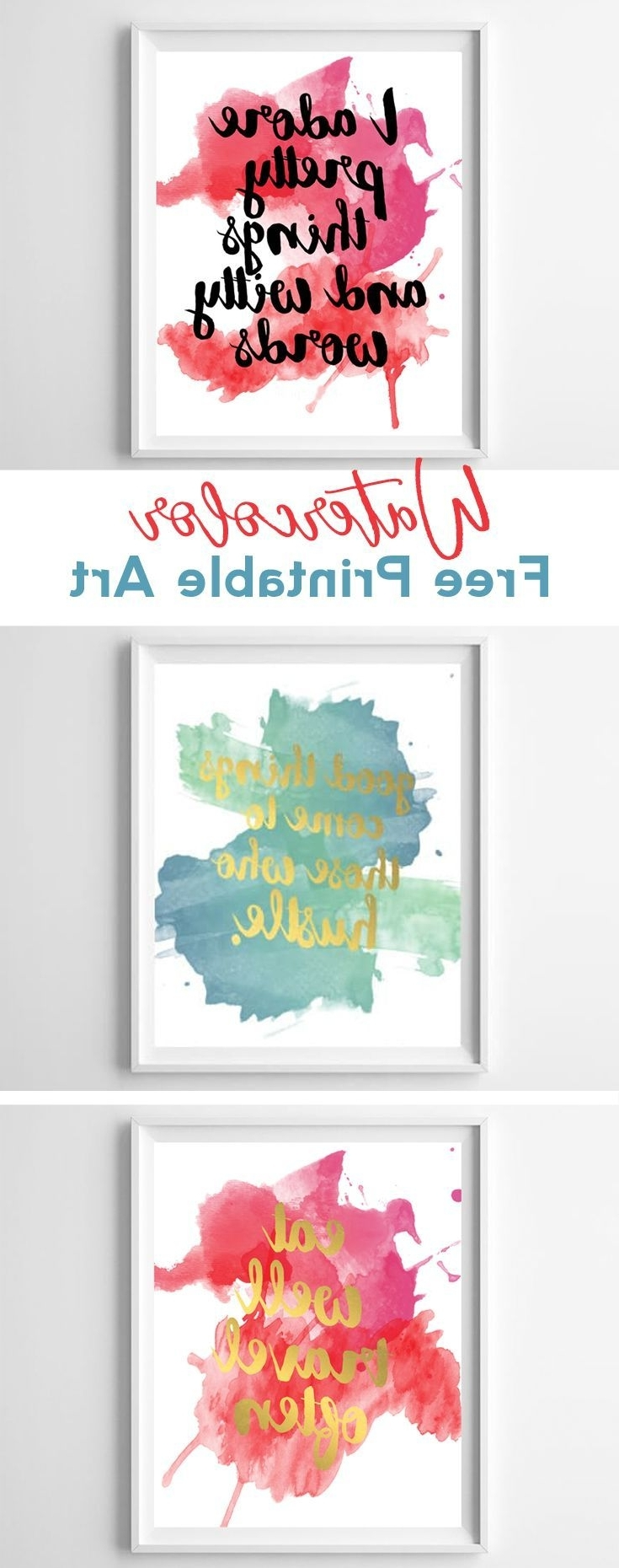 Current Kate Spade Wall Art Intended For Watercolor Free Printables (View 4 of 15)
