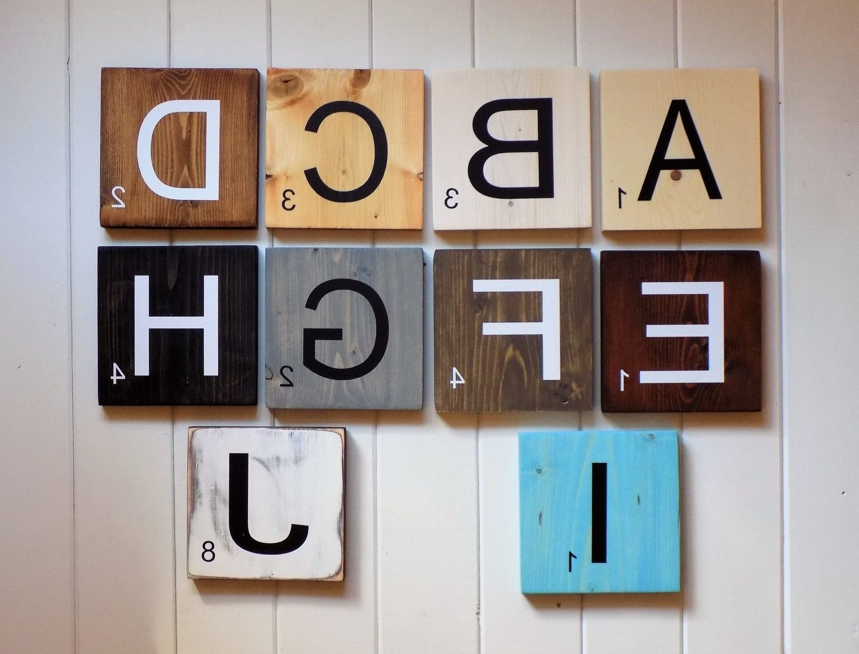Current Large Scrabble Tiles, Scrabble Tiles, Scrabble Wall Art, Gallery Regarding Scrabble Wall Art (View 2 of 15)