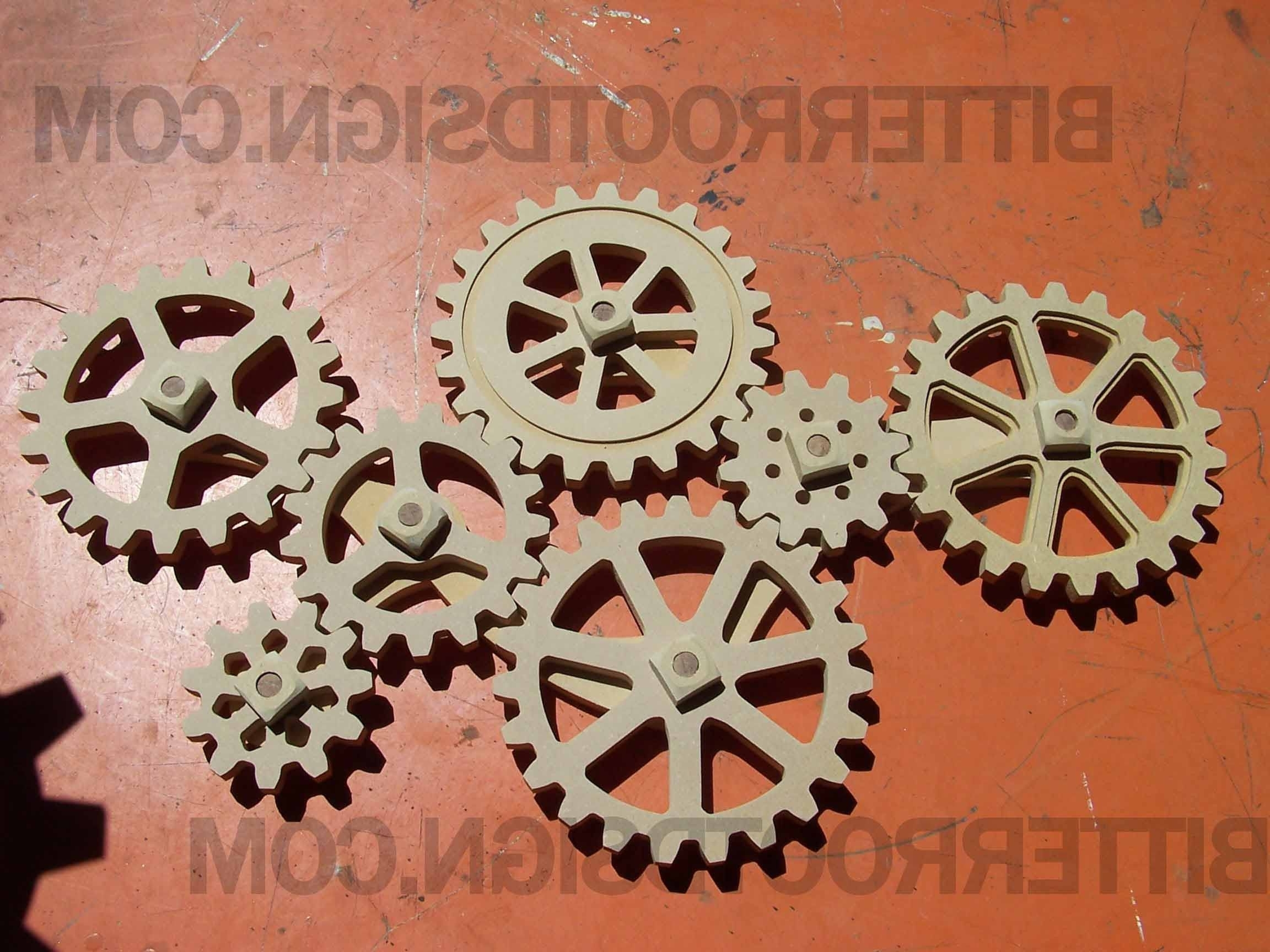 Current Large Wooden Gears – Kinetic Wall Art – Wood Gears – Cogs Inside Kinetic Wall Art (View 4 of 15)