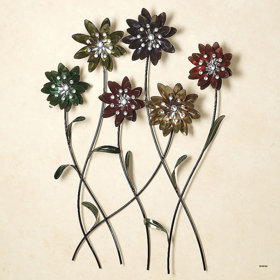 Current Metal Flowers Wall Art Inside Wall Art (View 8 of 15)