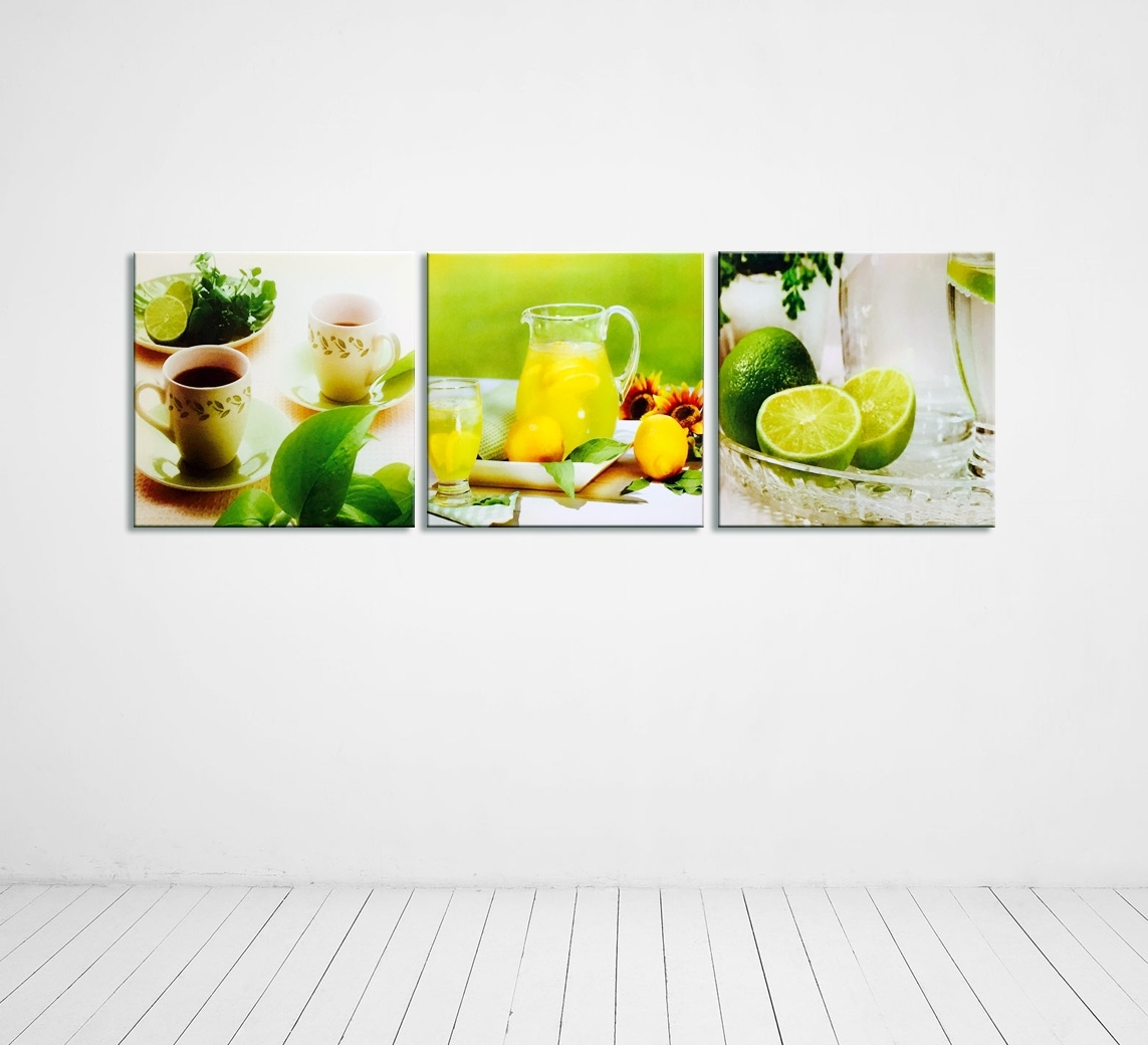Current Modern Photography Kitchen Wall Decor Multi Piece Canvas Intended For Kitchen Canvas Wall Art Decors (View 5 of 15)
