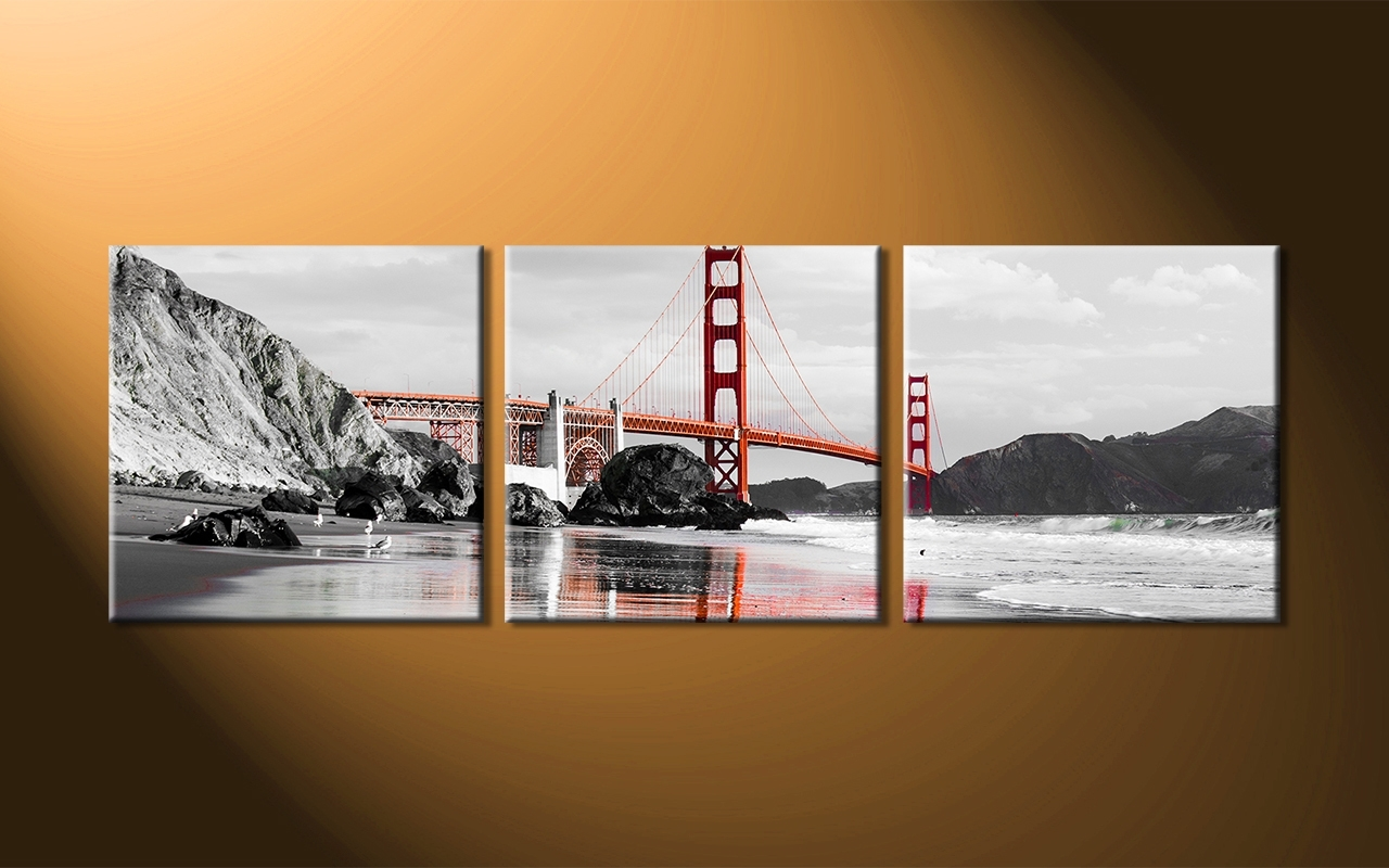 Current Multi Panel Wall Art In Delighful Wall To 3 Panel Wall Art – Levitrafer (View 4 of 15)