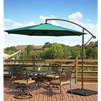 Current Offset Cantilever Patio Umbrellas Intended For Amazon : Amt Deluxe Adjustable Offset Cantilever Hanging  (View 3 of 15)