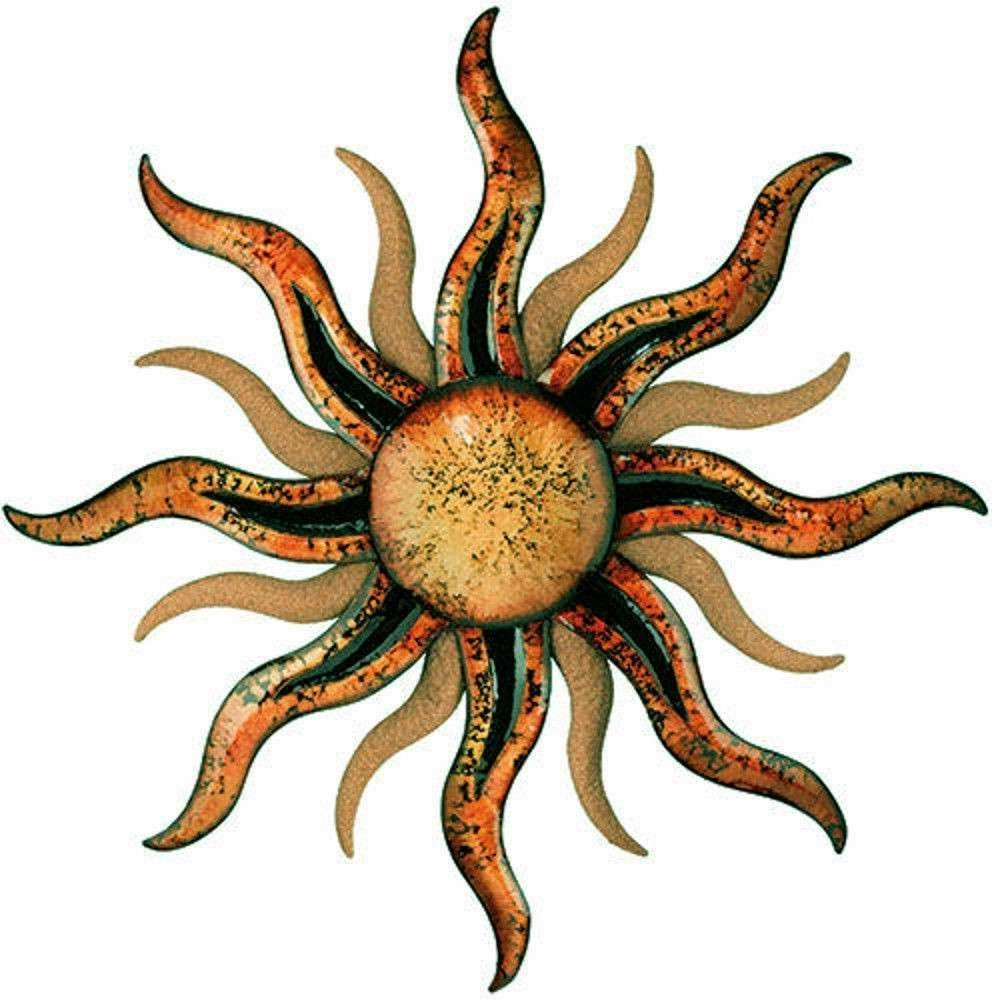 Current Outdoor Sun Wall Art Pertaining To Metal Sun Wall Art Outdoor New Sunburst Wall Art Sun Hanging Metal (View 4 of 15)