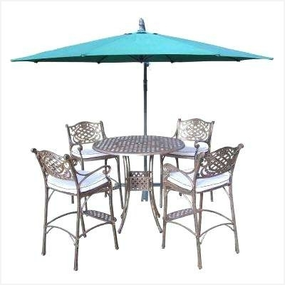 Current Patio Table With Umbrella Hole » Inviting Bar Height Patio Umbrella For Patio Umbrellas For Bar Height Tables (View 12 of 15)