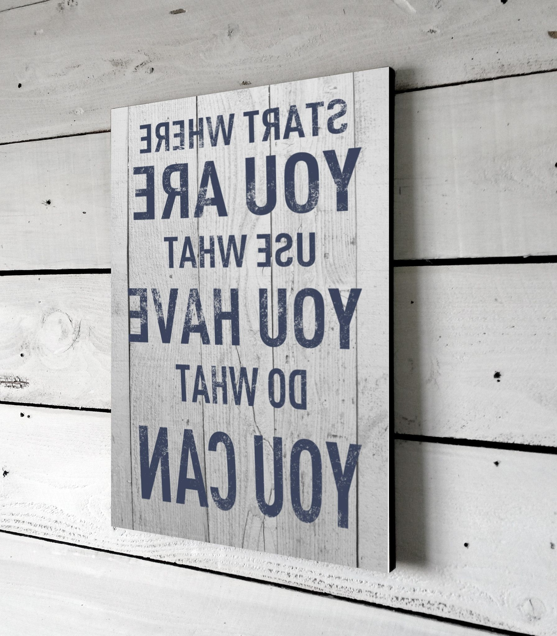 Current Quote Signs For Home, Printed Sign On Wood, Wall Art, 11X16, Start Within Wood Wall Art Quotes (View 5 of 15)