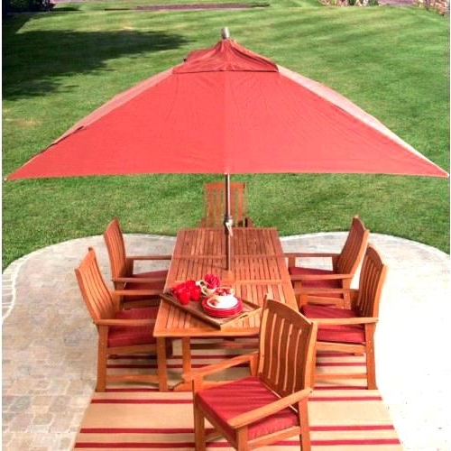 Current Rectangular Patio Umbrella Sunbrella Foot Offset Fantastic Intended For Rectangle Patio Umbrellas (View 12 of 15)