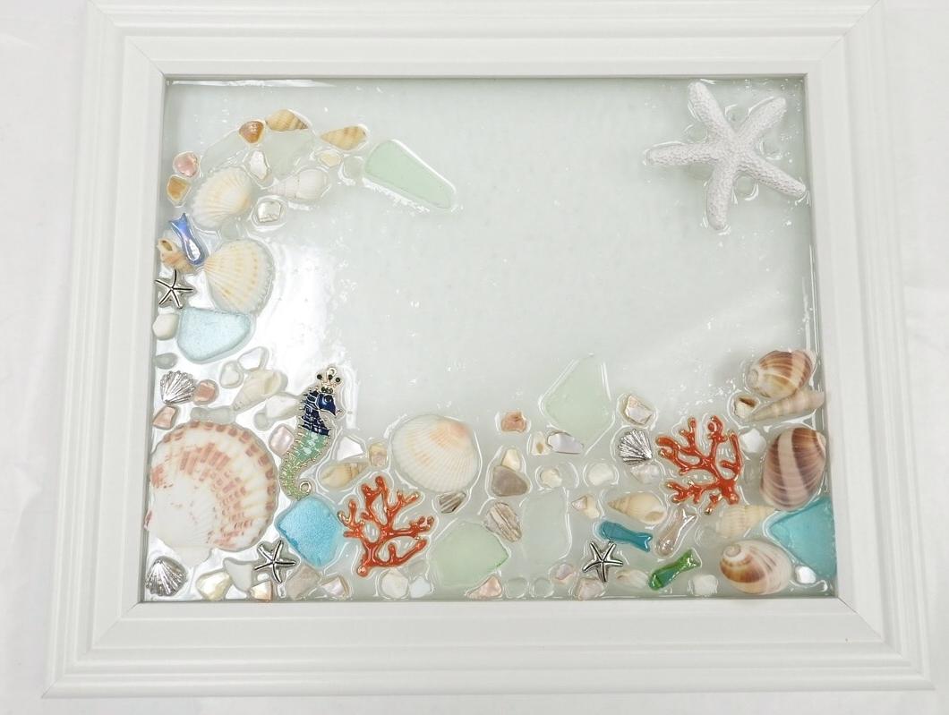 Current Sea Glass Wall Art Class - Virginia Beach Beads in Sea Glass Wall Art
