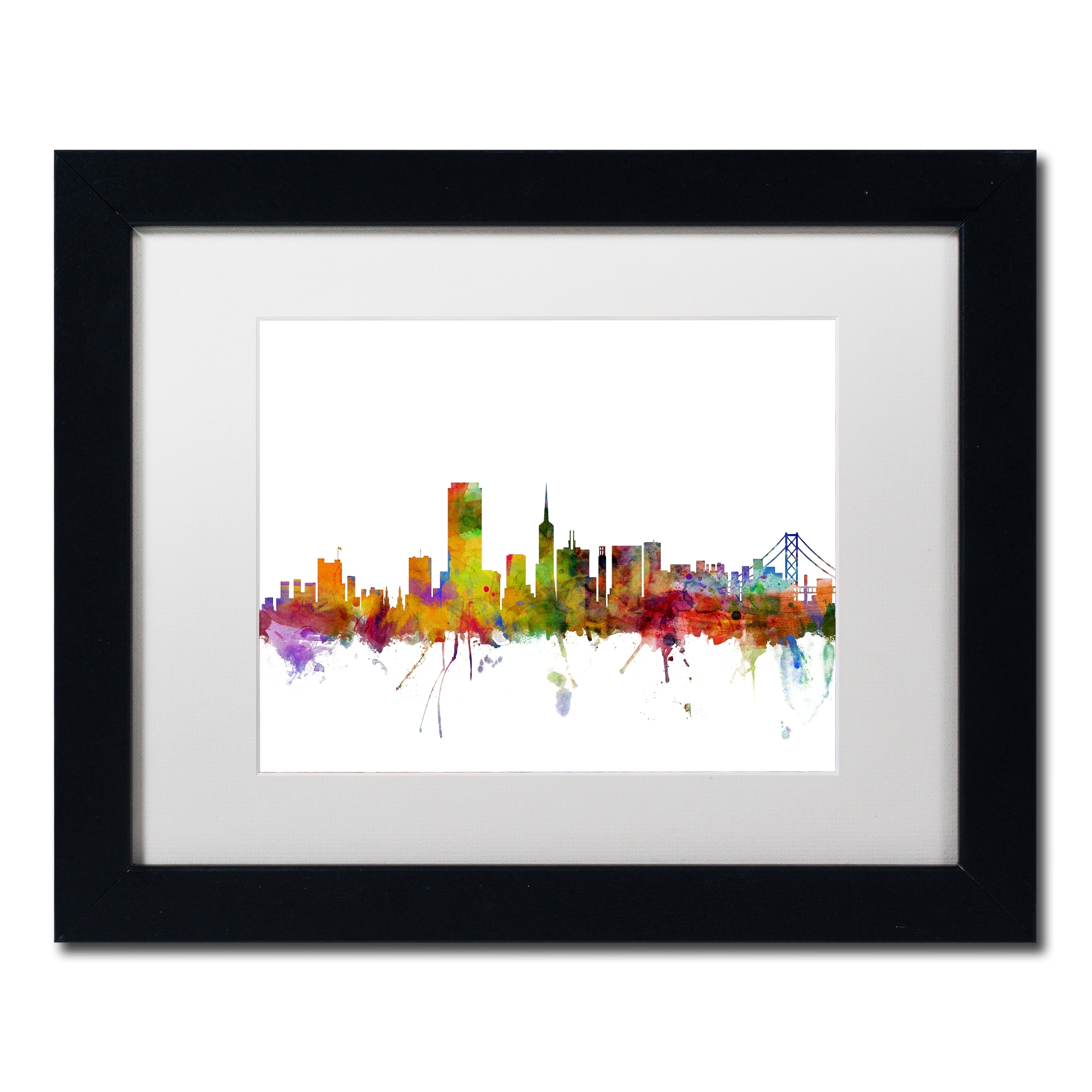 Current Shop Michael Tompsett 'san Francisco City Skyline' White Matte Intended For San Francisco Wall Art (View 15 of 15)