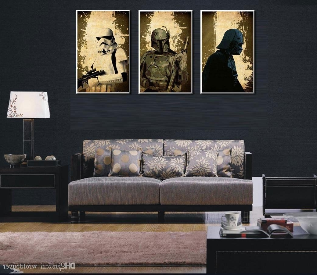 Current Star Wars Wall Art Inside Modern Huge Wall Art Oil Painting On Canvas,star Wars Characters No (View 2 of 15)