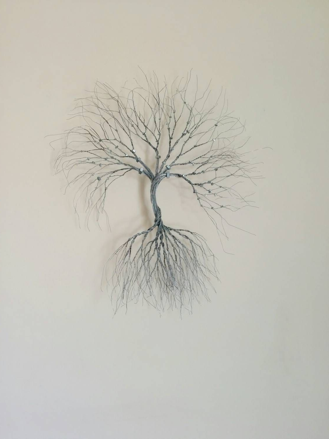 Current Wire Wall Art With Regard To Silver Wire Wall Art Tree Of Life Wall Decoration Decorative  Wire (View 2 of 15)