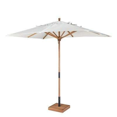 Current Wooden Patio Umbrellas Inside Pulley And Pin Lift System – 9 – Wood – Market Umbrellas – Patio (View 4 of 15)