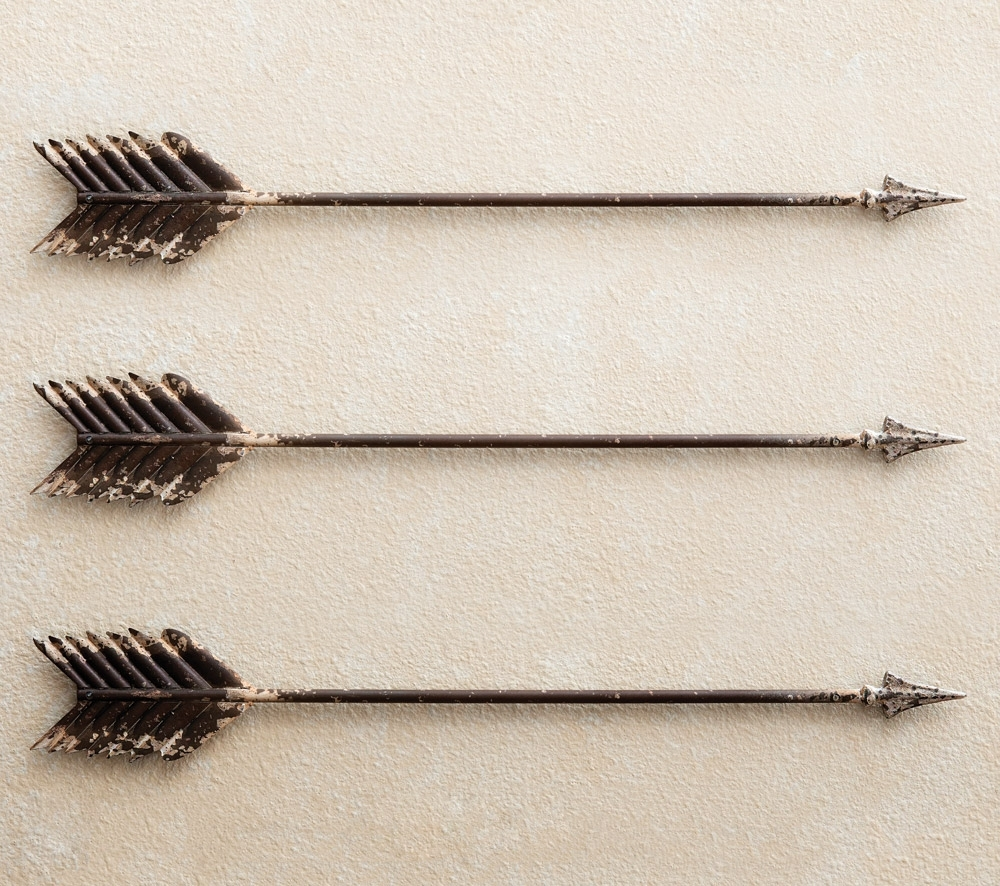 Cushty Metal Arrow Wall Decor Love Wedding Decor Native American Within Latest Arrow Wall Art (View 3 of 15)