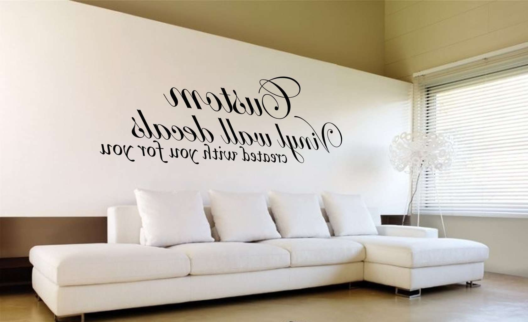 Custom Wall Art Decal Sticker With Regard To Recent Wall Art Decals (View 2 of 15)
