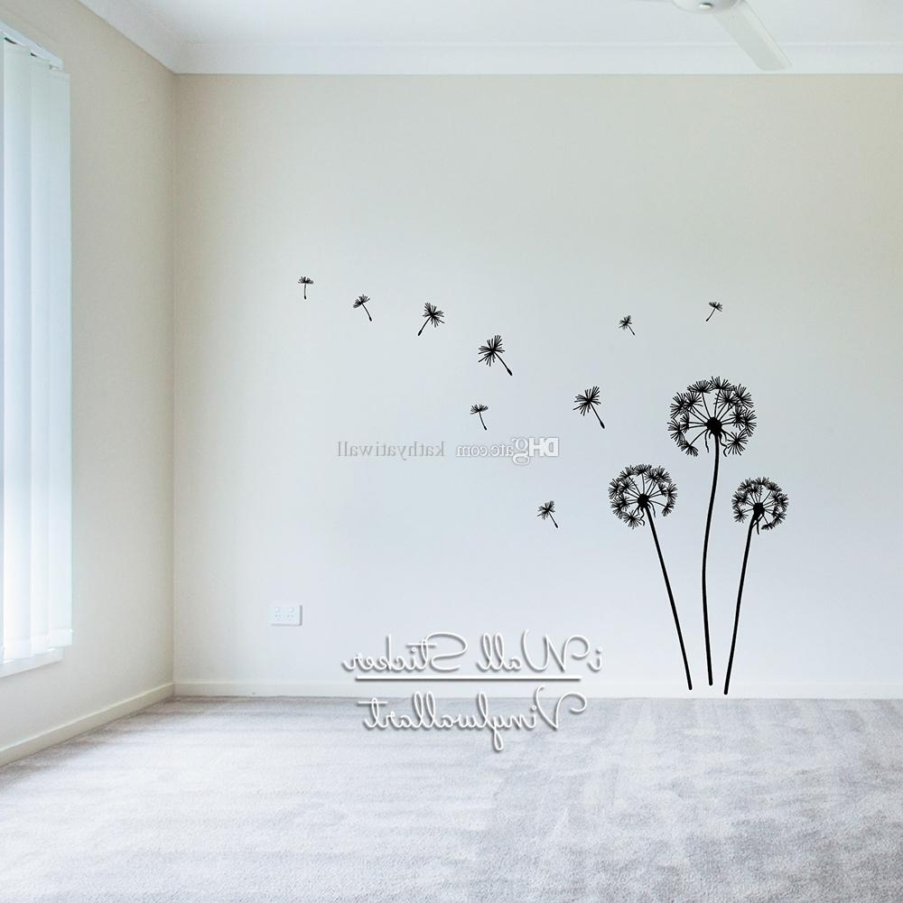 Dandelion Wall Art With Regard To Most Current Dandelion Wall Sticker Dandelion Flower Wall Decal Diy Flower (View 5 of 15)