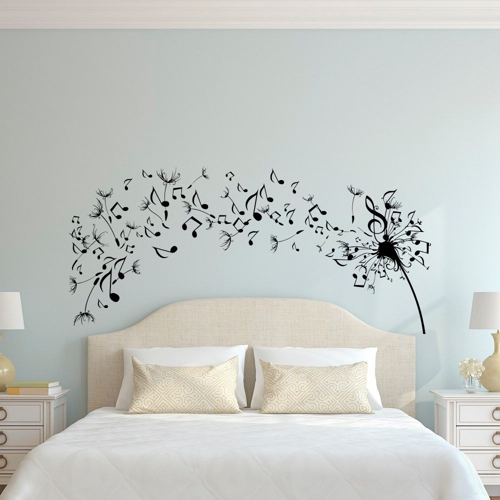 Dandelion Wall Art With Regard To Trendy Dandelion Wall Decal Bedroom  Music Note Wall Decal Dandelion Wall (View 6 of 15)