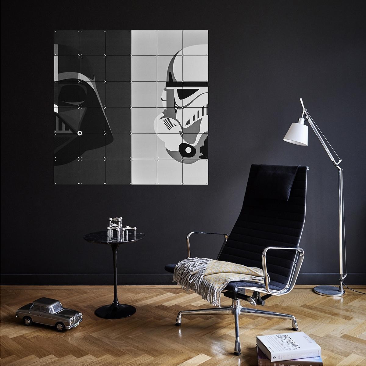 Darth Vader Wall Art In Most Recent Star Wars Stormtrooper/darth Vader Wall Art Panels – The Basiq (View 1 of 15)