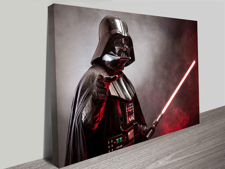 Darth Vader Wall Art Inside Favorite Darth Vader's Laser Sword Wall Art Print On Canvas Australia (View 2 of 15)