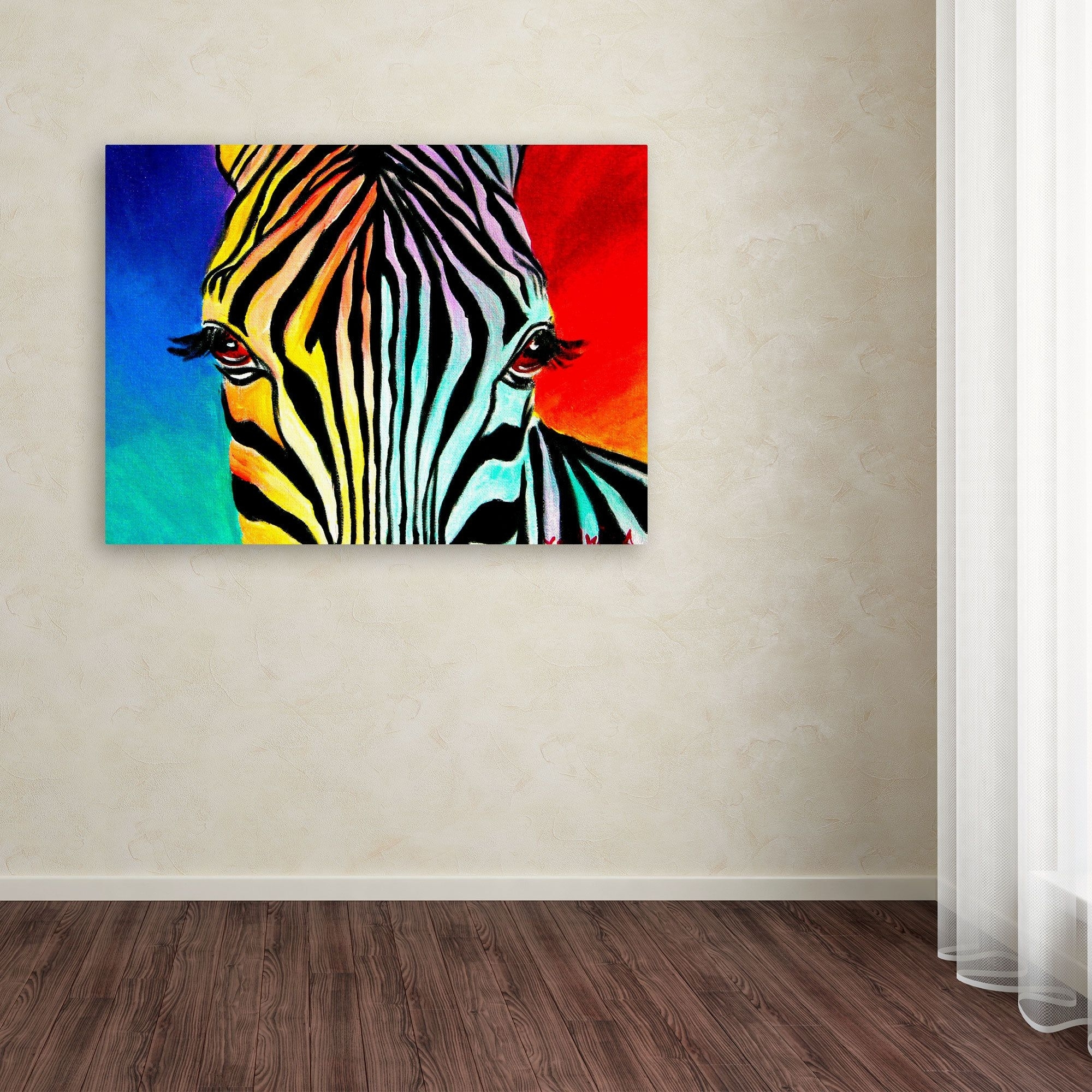 Dawgart 'zebra' Canvas Art (View 3 of 15)