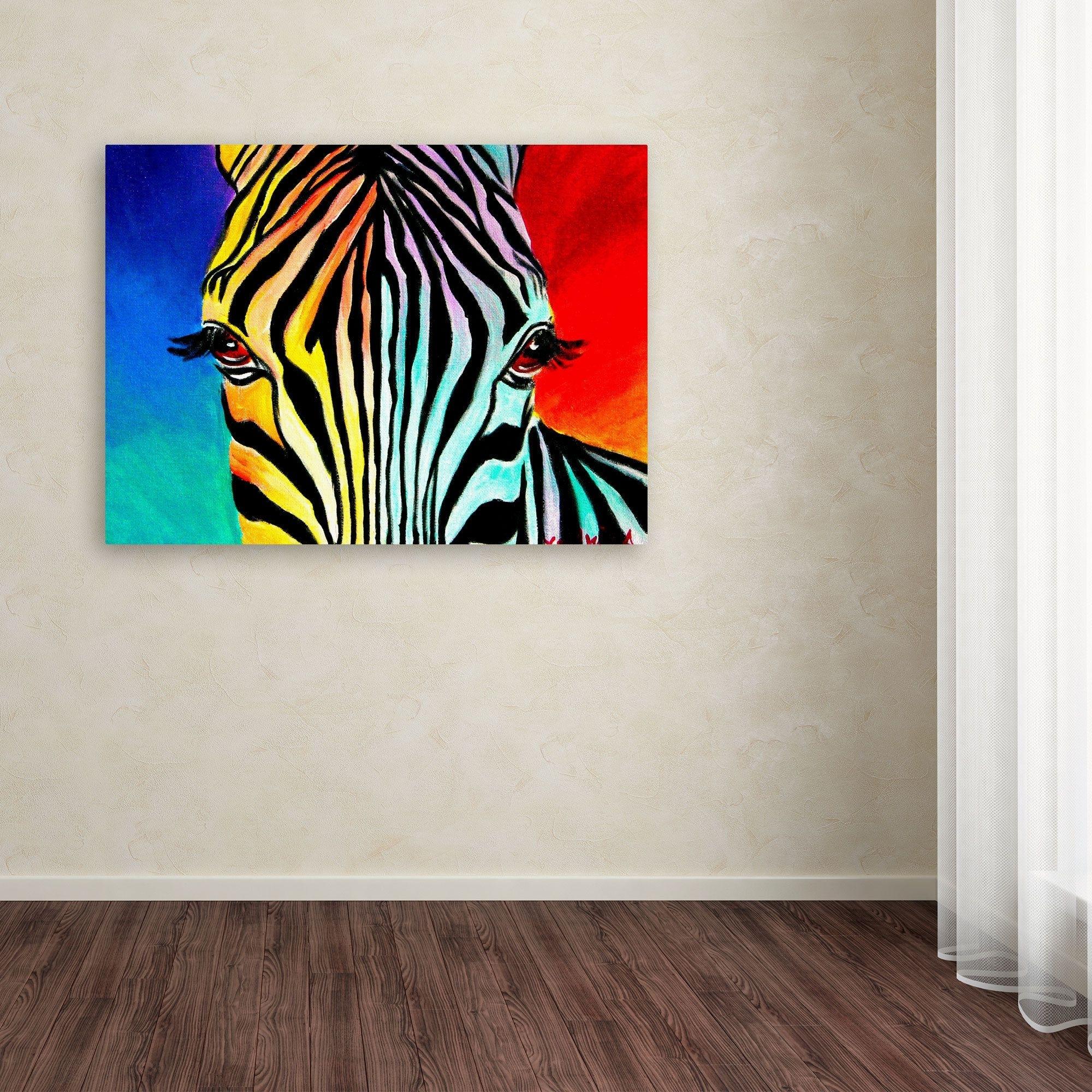 Dawgart 'zebra' Canvas Art (View 11 of 15)