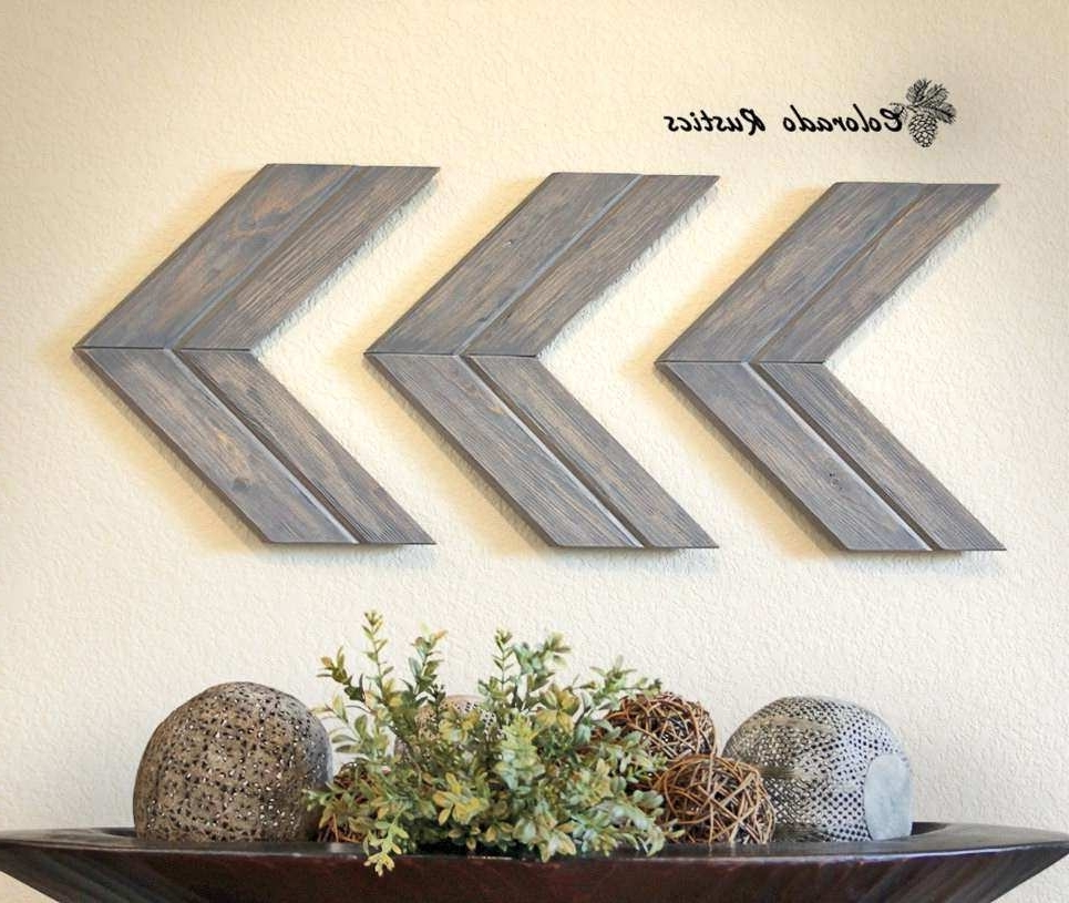 Decor Wall Plaques New Arrow Wall Art Chevron Arrow Wall Décor Pertaining To Famous Arrow Wall Art (View 6 of 15)