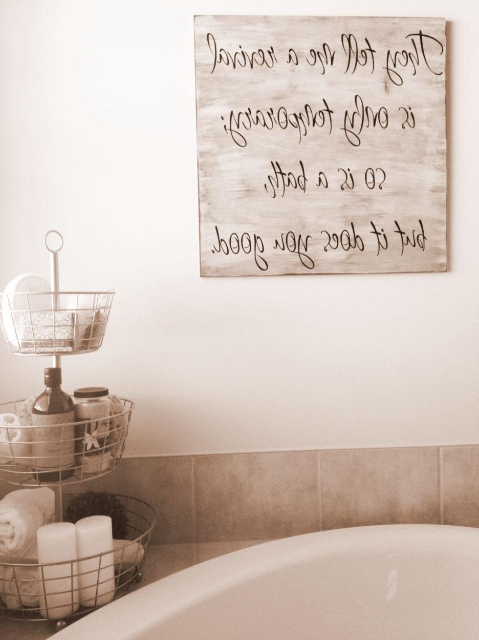 Decorating Ideas For Bathroom Walls Fair Design Inspiration Amazing Regarding Newest Bathroom Wall Art Decors (View 5 of 15)