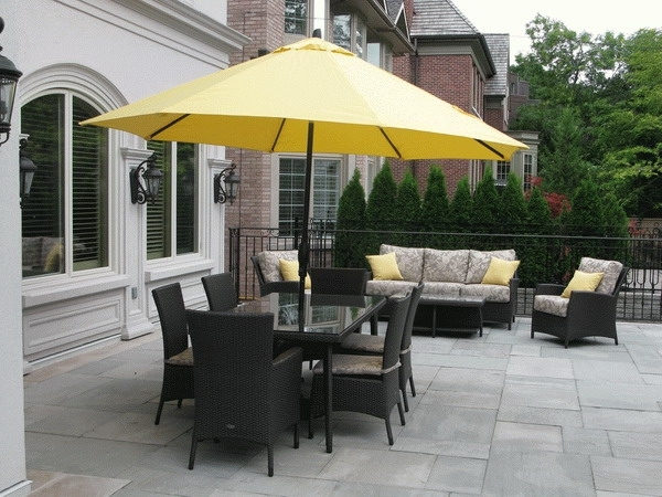 Decorating Ideas Intended For 2018 Patio Table Sets With Umbrellas (View 2 of 15)