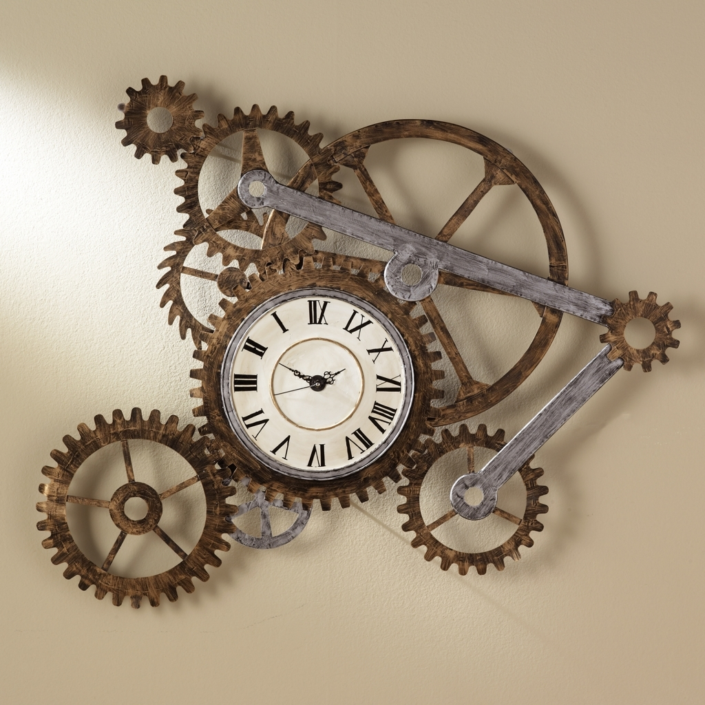 Decorating: Steampunk Wall Decor Spectacular Gear Wall Art With With Regard To Trendy Steampunk Wall Art (View 12 of 15)