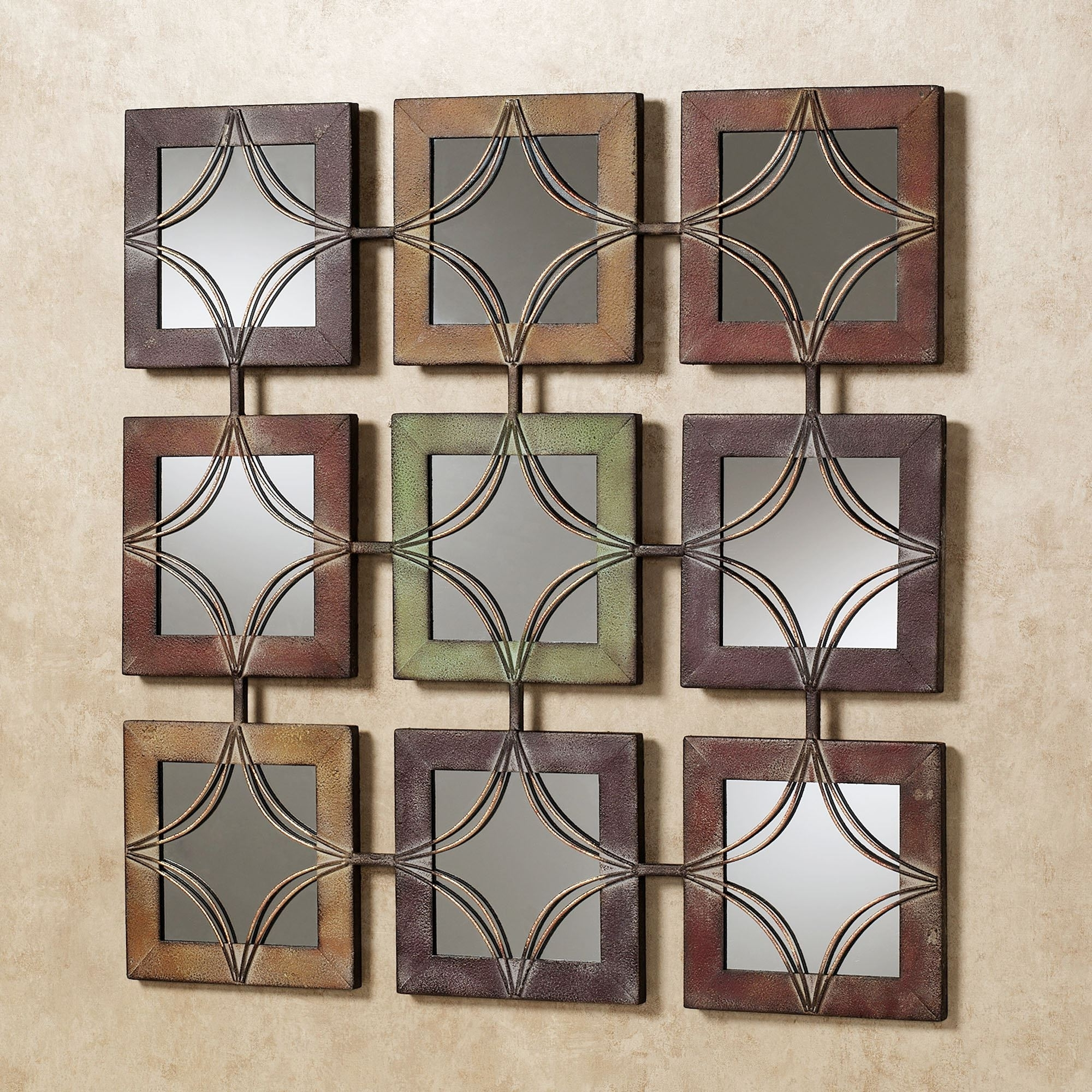 Decorative Wall Art In Current Domini Mirrored Metal Wall Art (View 3 of 15)
