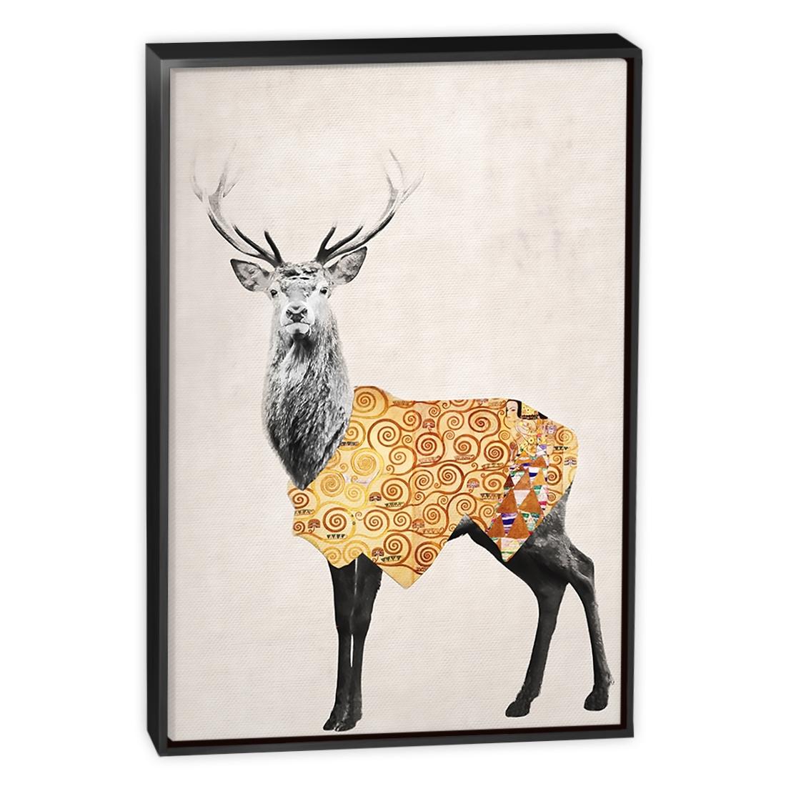 Deer Canvas Wall Art Pertaining To 2018 Golden Deer – Canvas Print – Wall Art – Australia (View 2 of 15)