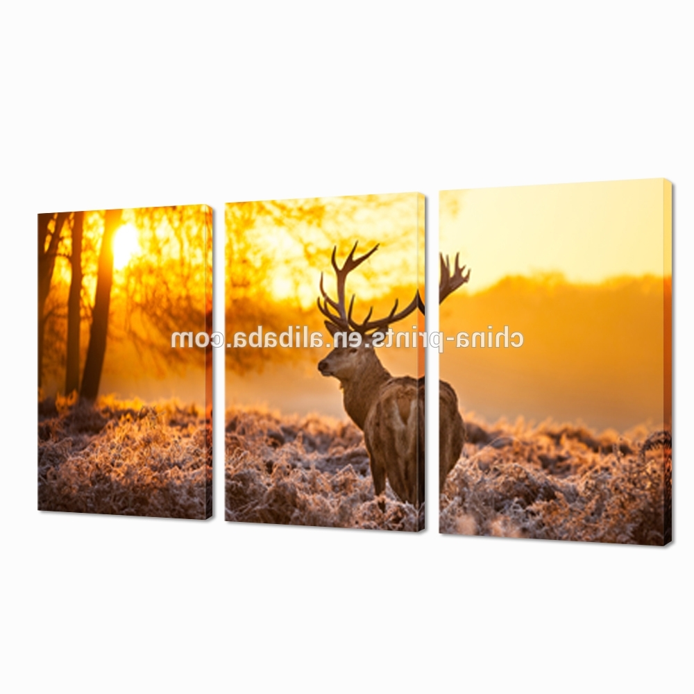 Deer Canvas Wall Art With Regard To Most Recently Released Deer At Dusk Digital Canvas Printing/animal Modern Wall Art/art (View 9 of 15)
