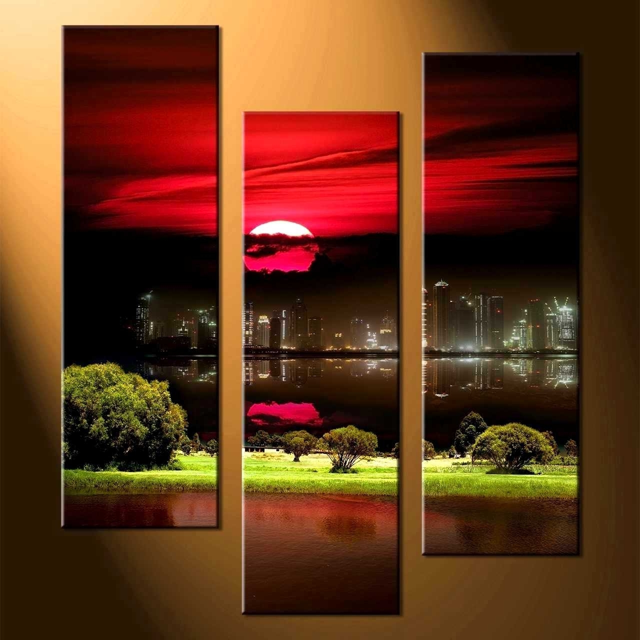 Delectable Remarkable Wall Decor Piece Canvas Art Black Artwork Home Regarding Most Popular Red And Black Canvas Wall Art (View 6 of 15)