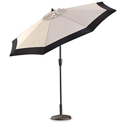 Deluxe Patio Umbrellas Inside Fashionable Amazon : Castlecreek 9' Two Tone Deluxe Market Patio Umbrella (View 4 of 15)