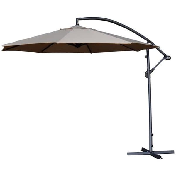 Deluxe Patio Umbrellas Pertaining To Best And Newest Shop Abba Patio Deluxe Chocolate 10 Ft Adjustable Offset Cantilever (View 4 of 15)