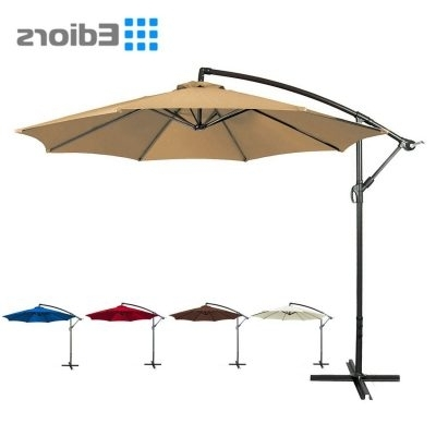 Deluxe Patio Umbrellas Within Best And Newest Top 10 Best Offset Patio Umbrellas In 2018 Reviews (View 7 of 15)