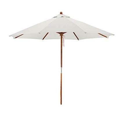Deluxe Patio Umbrellas Within Popular Amazon : Phat Tommy Deluxe Market Umbrella In Off White : Patio (View 8 of 15)