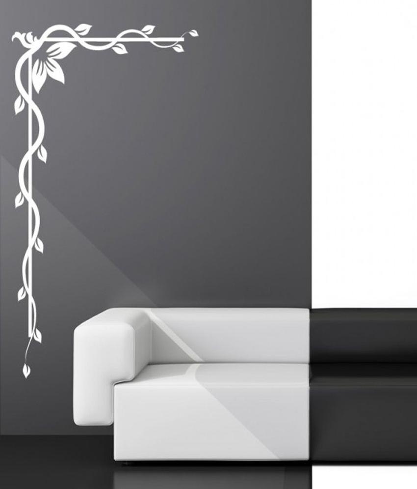 Destudio – Decorative Floral Corner – Wall Art Stickers And Wall Inside Popular Corner Wall Art (View 7 of 15)