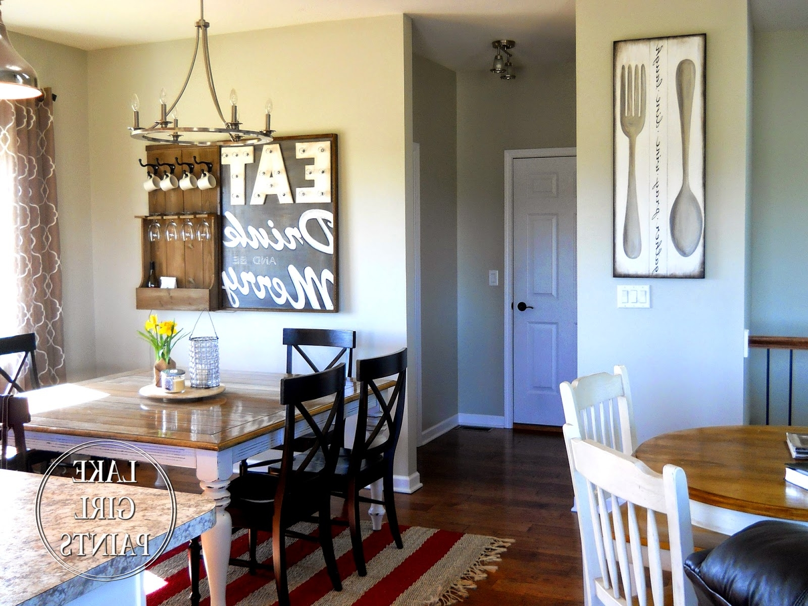 Dining Room Wall Art In Latest Lake Girl Paints: Making Dining Room Wall Art (View 5 of 15)