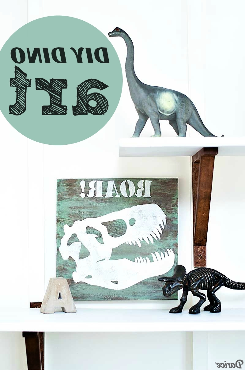 Dinosaur Wall Art Throughout Most Recent Diy Dino Art Tutorial For Kid's Room Decor – Darice (View 11 of 15)